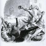 Jean-Jacques Grandville - Les Romains échevelés à la première représentation d'Hernani Domaine public via Wikimedia Commons