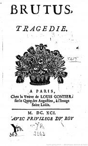 Couverture de Brutus, Catherine Bernard