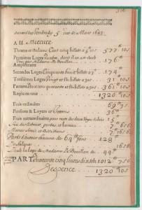 Registre de la Comédie-Française du 5 mars 1683
