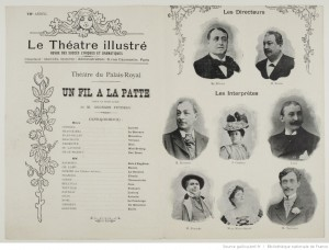 Programme du Théâtre du Palais-Royal, 09-01-1894. Source : Bnf/ Gallica
