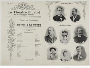 Programme du Théâtre du Palais-Royal, 09-01-1894. Source : Bnf/ Gallica
