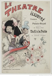 Affiche du Théâtre du Palais-Royal, 09-01-1894. Source : Bnf/ Gallica