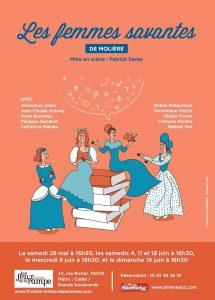Les Femmes savantes à l'affiche – Compagnie Mandarine