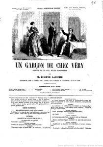 Un garçon de chez Véry d'Eugène Labiche