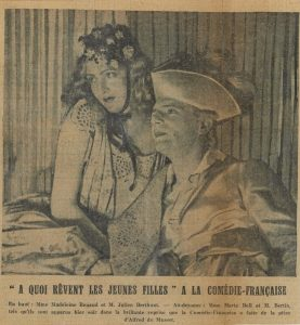 À quoi rêvent les jeunes filles d'Alfred de Musset