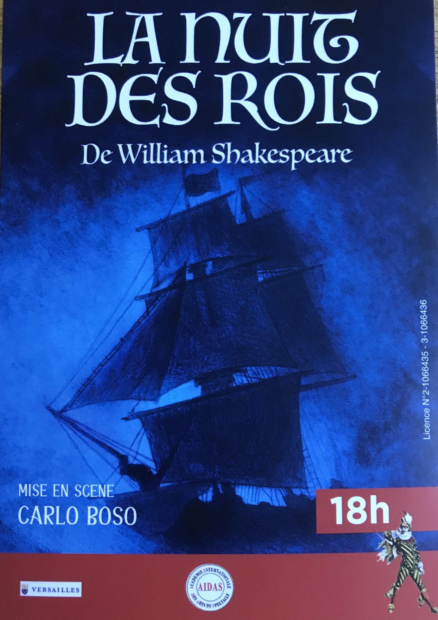 La Nuit des Rois de William Shakespeare mise en scène de Carlo Boso